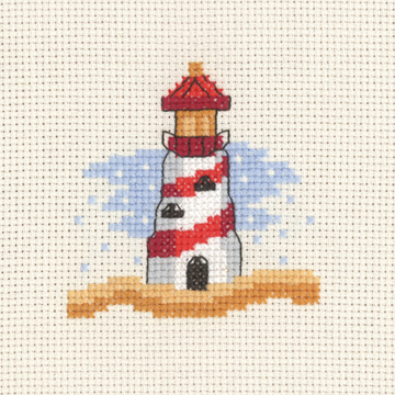Permin Kits143130 ~ Red Lighthouse ~ 14 count Aida
