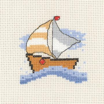 Permin Kits143135 ~ The Boat ~ 14 count Aida