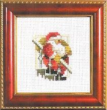 Permin Kits143232 ~ Santa On Stairs ~ 14 count Aida