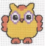 Permin Kits143332 ~ Orange Owl ~ 8 count Aida