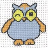 Permin Kits143334 ~ Blue Owl ~ 8 count Aida