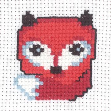 Permin Kits 145336 ~ Fox ~ My First Kit ~ 8 Count Aida