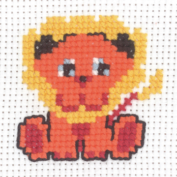 Permin Kits 145337 ~ Lion ~ My First Kit ~ 8 Count Aida