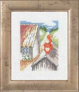 Permin Kits147340 ~ Red Cat On Roof ~ 14 count Aida