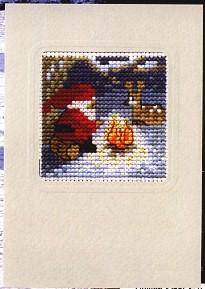 Permin Kits171285 ~ Santa At Camp Fire ~ 14 count Aida