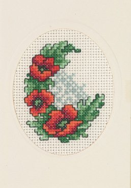 Permin Kits172182 ~ Poppies Card ~ 14 count Aida