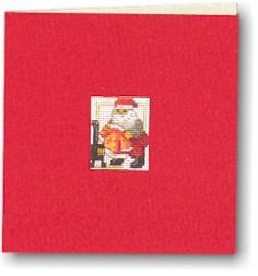 Permin Kits173240 ~ Santa Card ~ 18 count Aida
