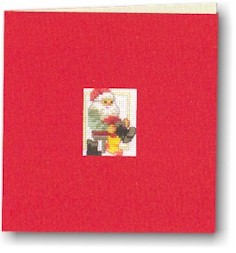 Permin Kits173241 ~ Santa Card ~ 18 count Aida