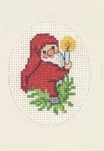 Permin Kits173289 ~ Elf With Light Christmas Card ~ 14 count Aida