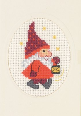 Permin Kits175281 ~ Elf & Light Card With Envelope ~ 14 count Aida