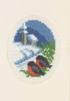 Permin Kits175288 ~ Church Card With Envelope ~ 14 count Aida