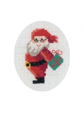 Permin Kits176274 ~ Santa Claus Card ~ 16 count Aida