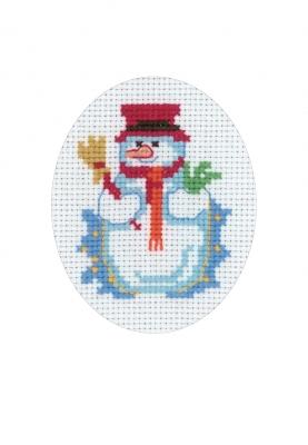 Permin Kits176277 ~ Snowman Card ~ 16 count Aida