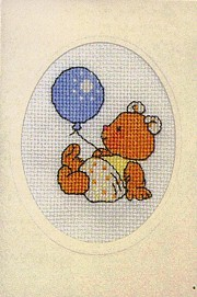 Permin Kits178445 ~ Teddy Bear With Balloon~ 16 count Aida