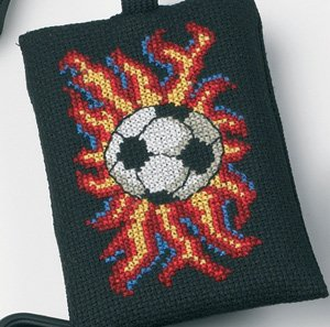 Permin Kits191691 ~ Soccer Phone Case ~ 16 count Aida