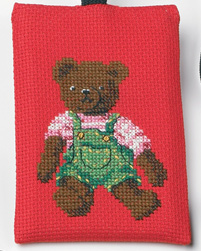 Permin Kits191695 ~ Teddy Bear Phone Case ~ 16 count Aida