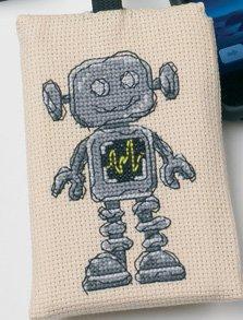 Permin Kits191696 ~ Robot Phone Case ~ 16 count Aida