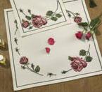 Permin Kits271710 ~ Rose Tablecloth ~ 8 count Aida