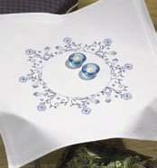 Permin Kits271749 ~ Flowers Tablecloth ~ Cotton