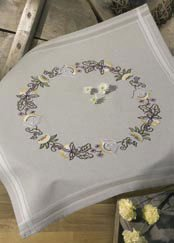 Permin Kits271811 ~ Flowers Tablecloth ~ Cotton