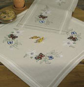 Permin Kits271863 ~ Butterfly Tablecloth ~ Linen