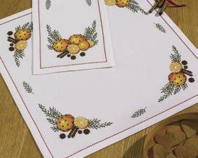 Permin Kits272628 ~ Scent of Oranges Tablecloth ~ 14 count Aida