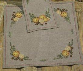 Permin Kits272629 ~ Scent of Oranges Tablecloth ~ 14 count Aida