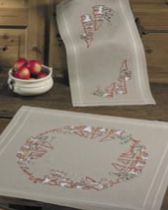 Permin Kits273640 ~ Christmas Time Natural Tablecloth (bottom) ~ Cotton/Linen