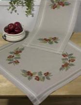 Permin Kits273702 ~ Rowan Berry Tablecloth (bottom) ~ Cotton/Linen