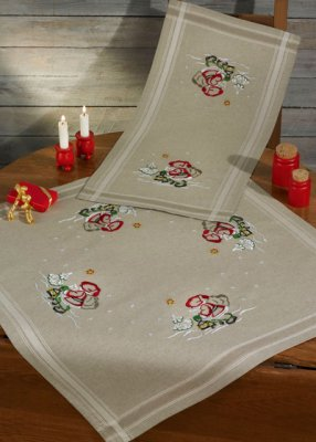Permin Kits274610 ~ Elf In The Night Tablecloth (bottom) ~ Printed Cotton/Linen