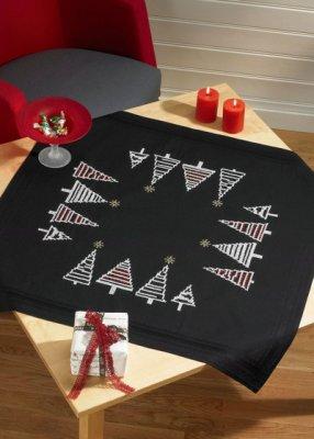Permin Kits274611 ~ Christmas Tree Tablecloth ~ Printed Cotton/Linen