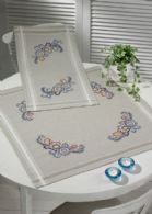 Permin Kits274740 ~ Early Morning Table Topper (lower) ~ Printed Linen/Cotton