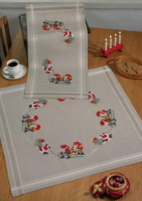 Permin Kits276603 ~ Three Elfs Table Cloth (bottom)
