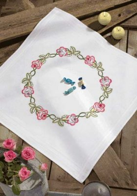 Permin Kits279530 ~ Flower Tablecloth ~ Prefinished