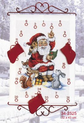 Permin Kits342525 ~ Santa Reads A Story ~ 14 count Aida