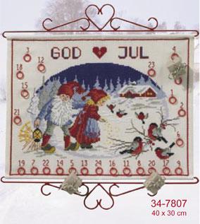 Permin Kits347807 ~ Elf Winter Stroll ~ 11 count Aida