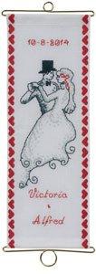 Permin Kits361319 ~ Wedding Announcement Bellpull ~ 14ct