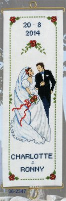 Permin Kits362347 ~ Wedding (2014) Bell Pull ~ 14 count Aida