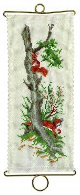 Permin Kits365302 ~ Squirrel/Fox Bellpull ~ 18 count Aida