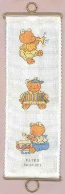 Permin Kits368455 ~ Bear Bellpull Boy ~ 16 count Aida