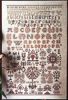 Permin Kits394454 ~ Sampler 1854 ~ 28 count Linen