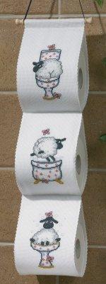 Permin Kits412136 ~ Sheep Toilet Paper Holder ~ Aida