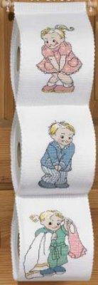 Permin Kits 415765 Toilet Paper Holder ~ 14 Count Aida