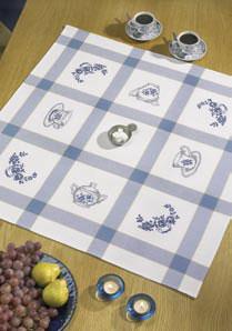 Permin Kits441702 ~ Kitchen Motif Tablecloth ~ 14 count Aida