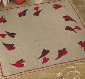 Permin Kits452217 ~ Hearts Tree Skirt ~ 10 count Jute