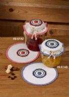 Permin Kits496142 ~ Blackberry Jamlid ~ Pre-finished Cotton