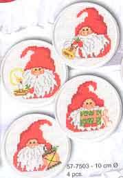 Permin Kits577503 ~ Christmas Coasters ~ 14 count Aida