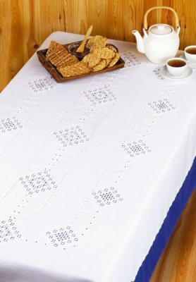 Permin Kits583397 ~ Hardanger Tablecloth ~ 22 count Hardanger