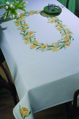 Permin Kits586175 ~ Spring Tablecloth ~ 11 count Aida
