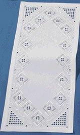 Permin Kits630905 ~ Hardanger Tablerunner ~ 22 count Hardanger